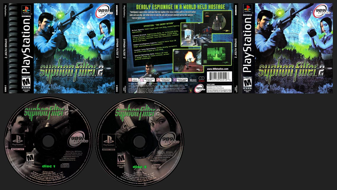 PlayStation Syphon Filter 2 Corrected Back Insert