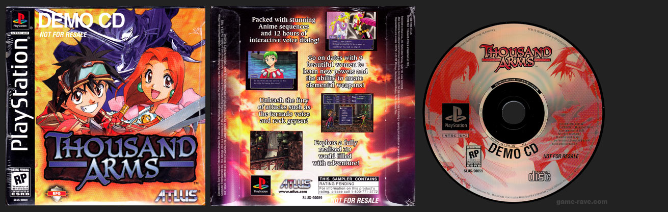 PlayStation Thousand Arms Demo CD