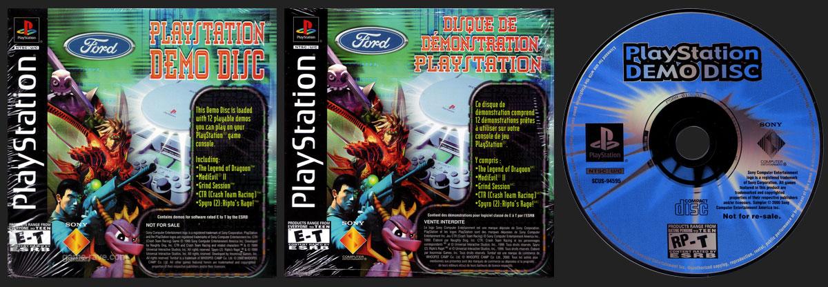 PSX PlayStation Ford Demo Disc Dealership Set - Demo Disc