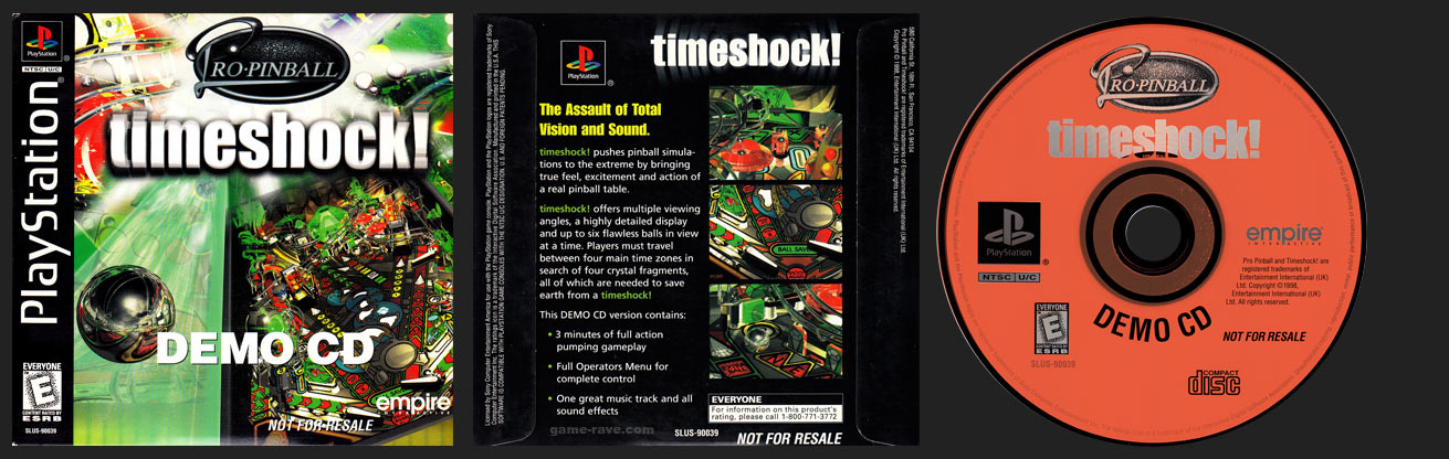PlayStation Pro-Pinball timeshock! Demo CD