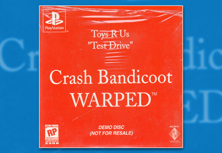 "PlayStation Toys R Us ""Test Drive"" - Crash Bandicoot Warped Demo Disc"
