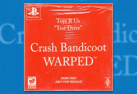 "PlayStation Toys R Us ""Test Drive"" - Crash Bandicoot Warped Demo Disc"