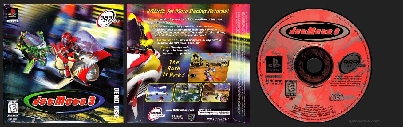 PSX PlayStation Jet Moto 3 Demo Disc