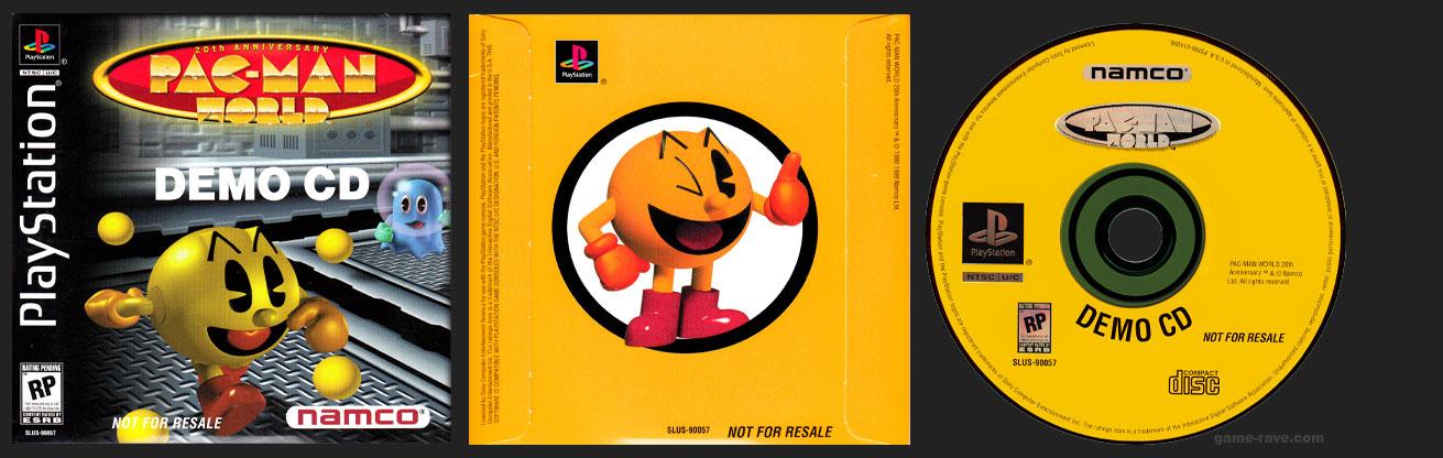 PSX PlayStation Pac-Man World Demo CD Matte Finish Disc