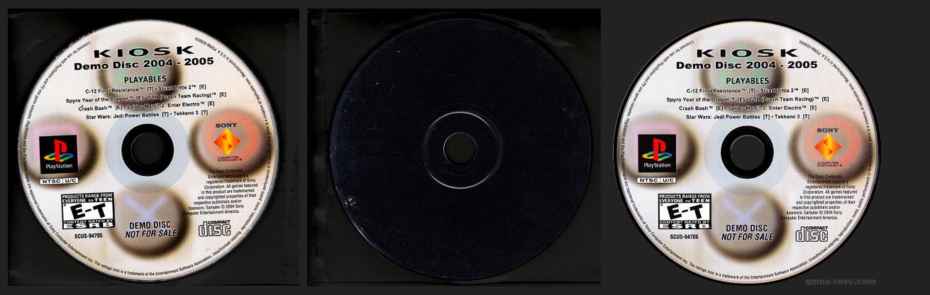 PSX PlayStation Kiosk Demo Disc 2004-2005