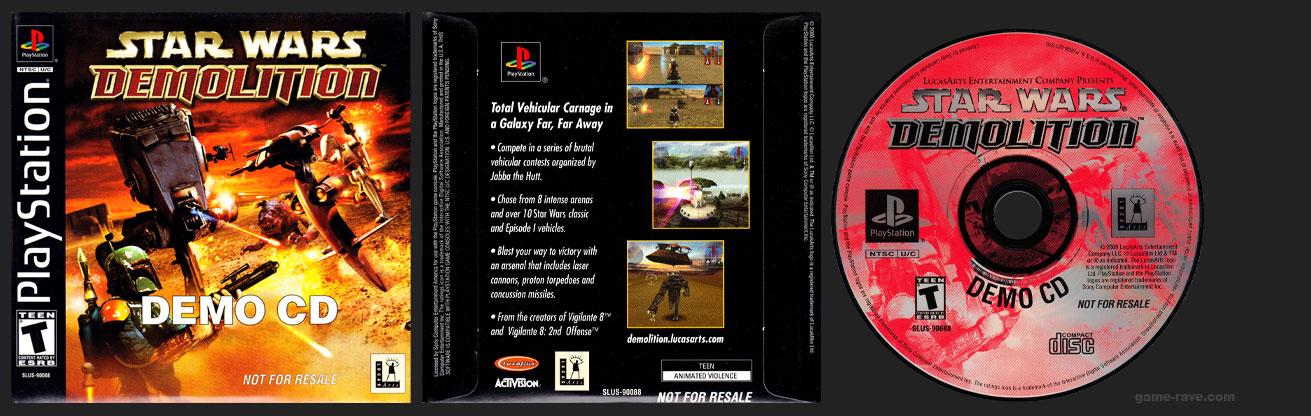 PSX PlayStation Star Wars Demolition Demo CD