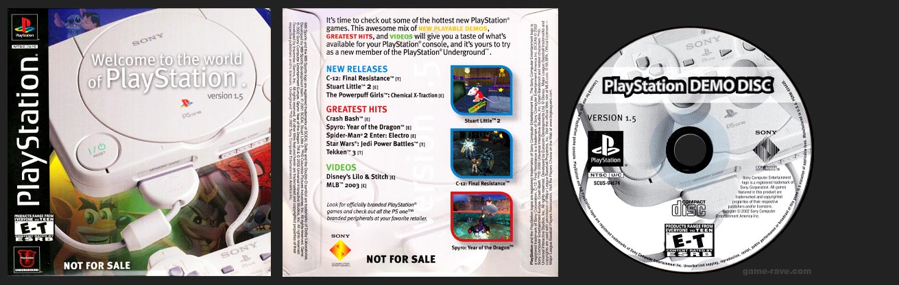 PSX Welcome to the world of PlayStation Version 1.5 Demo Disc
