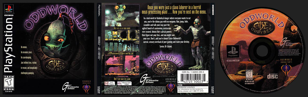 PSX PlayStation Oddworld: Abe's Oddysee Black Label Retail Release