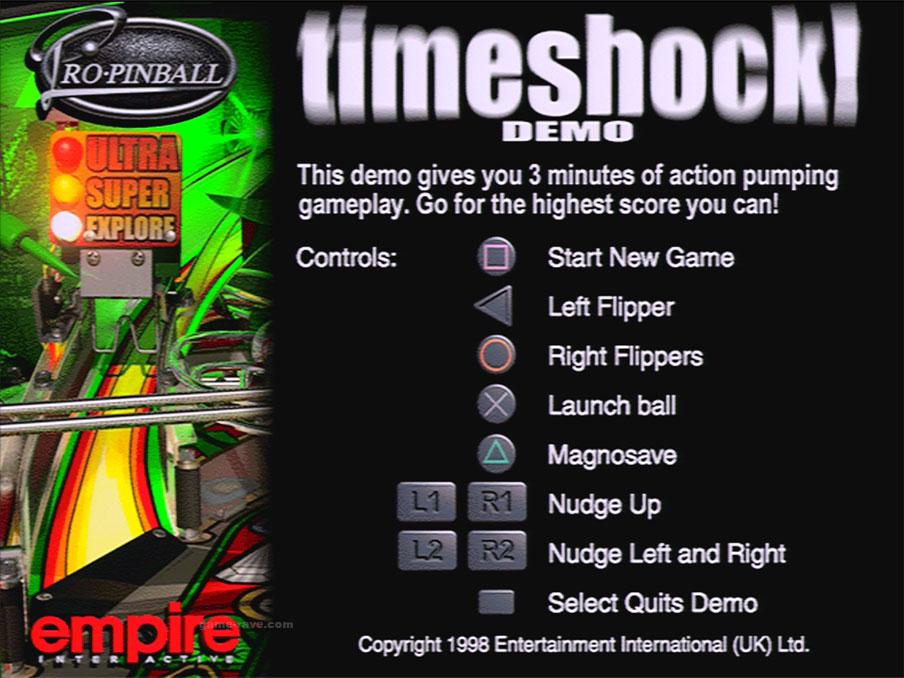 PSX Pro Pinball Time Shock Screenshot3