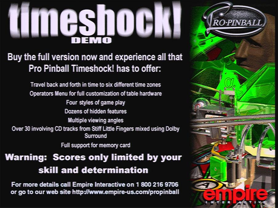 PSX Pro Pinball Time Shock Screenshot9