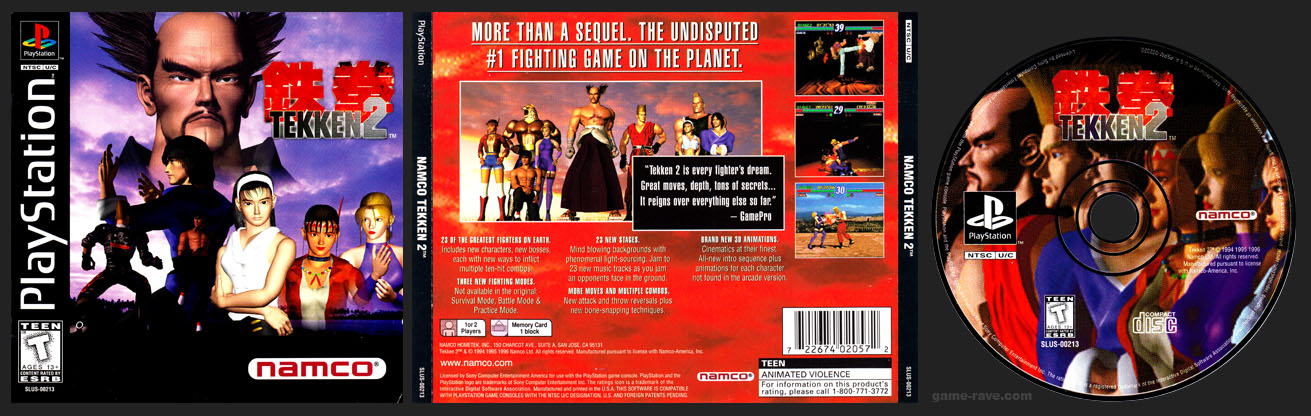 PSX PlayStation Tekken 2 3-Ring Hub Variant
