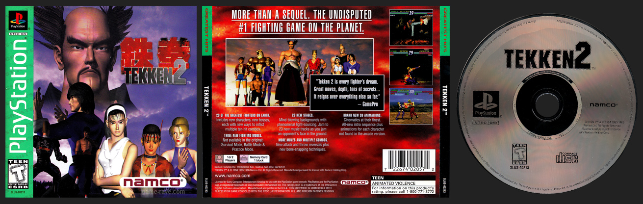 PlayStation 2 Tekken 2 Greatest Hits