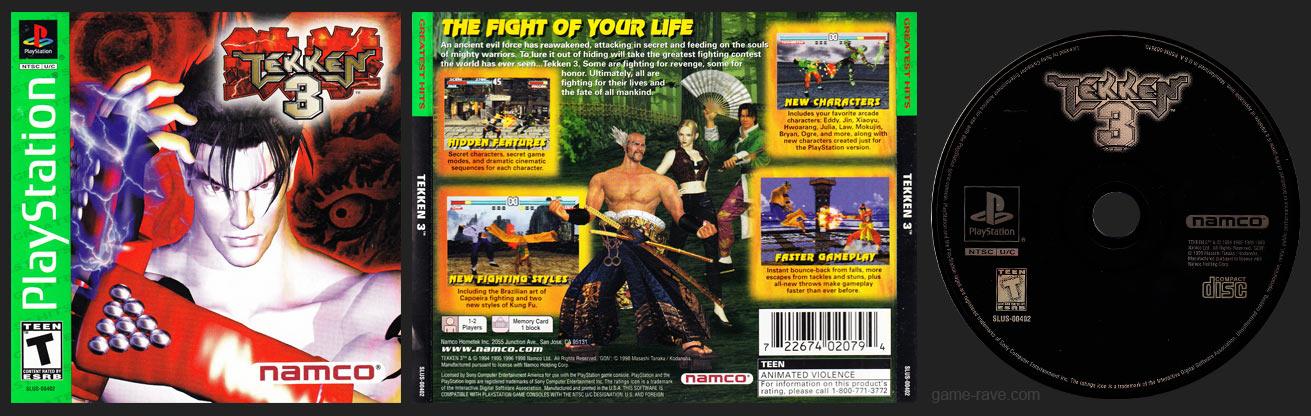 PlayStation Tekken 3 Updated ESRB Manual