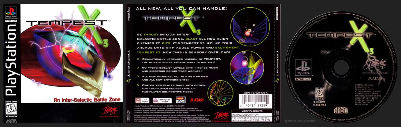PSX PlayStation Tempest X3 Black Label Retail Release