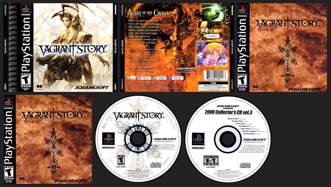 PSX PlayStation Vagrant Story Canadian Release with French Manual