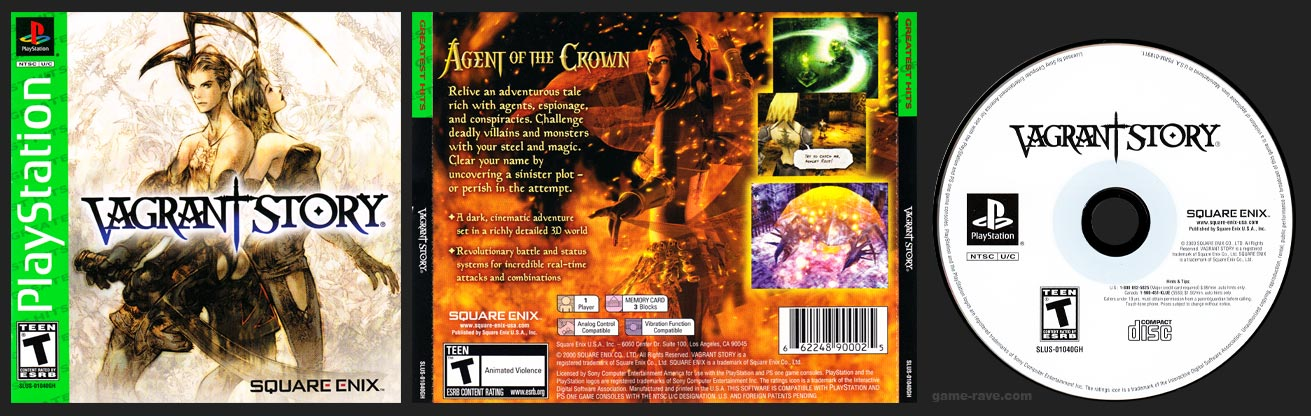 PlayStation Vagrant Story Greatest Hits Green Label