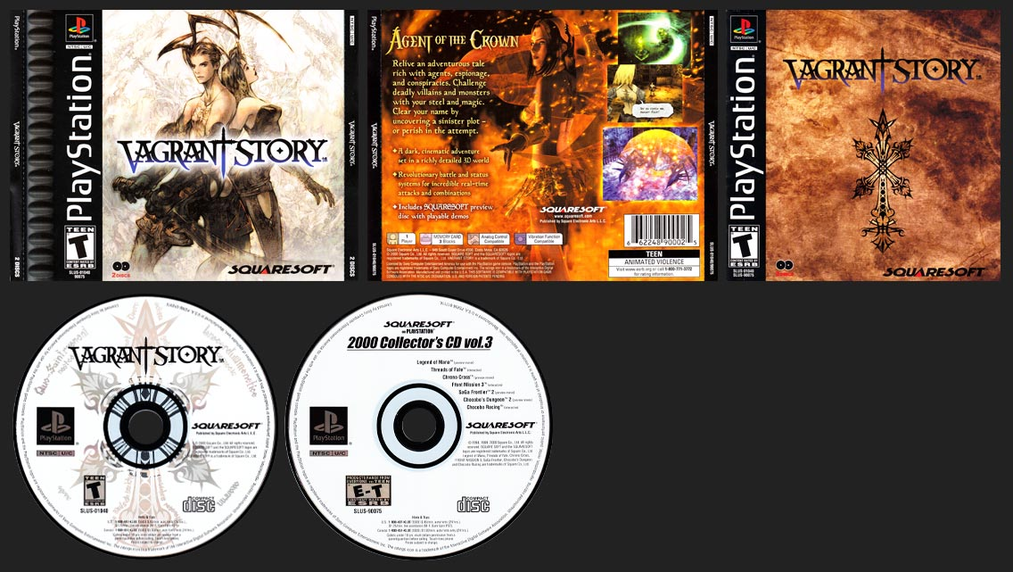 PSX PlayStation Vagrant Story Black Label Retail Release with Collector's Demo CD
