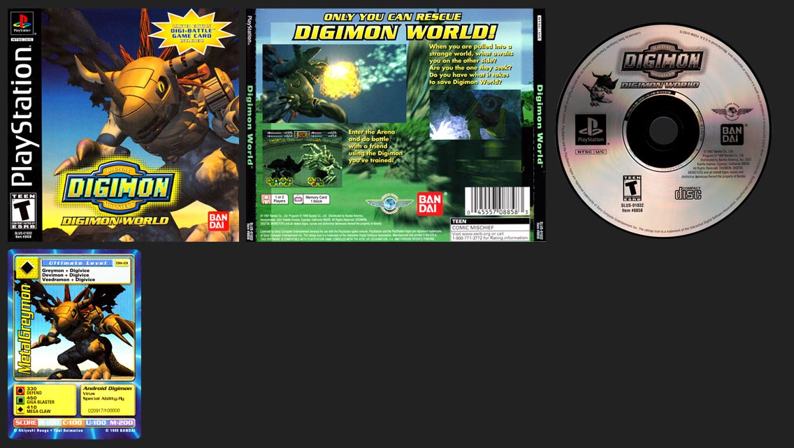 PSX PlayStation Digimon World Black Label Pack-In Card Release