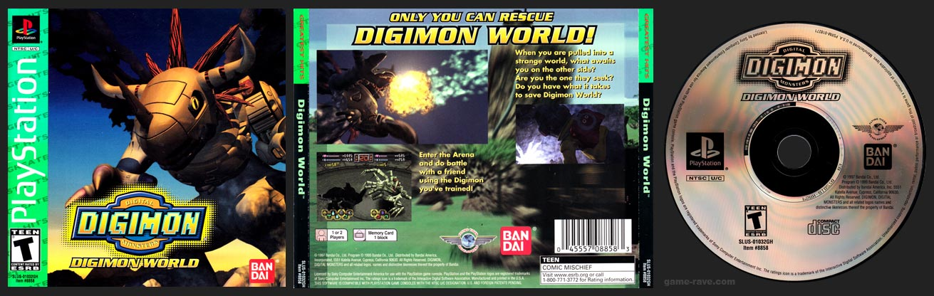PSX PlayStation Digimon World Greatest Hits Retail Release