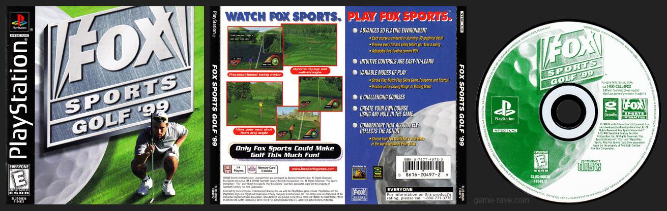 PSX FOX Sports Golf '99