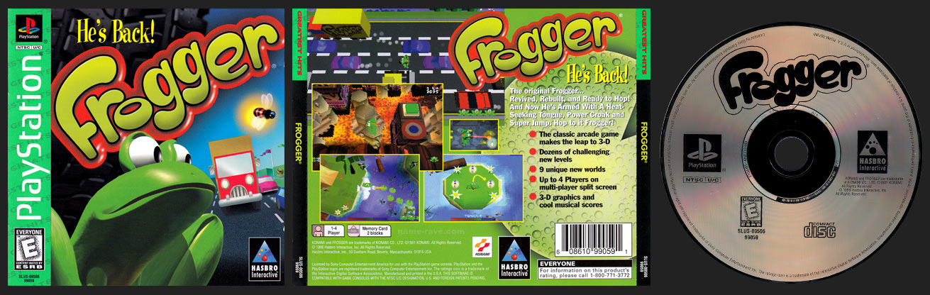 PSX Frogger Greatest Hits