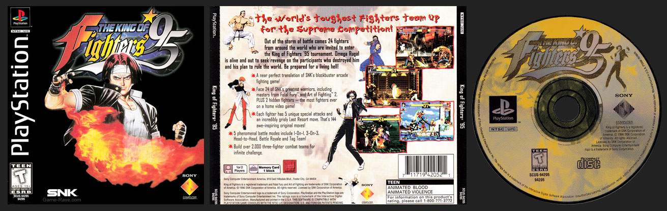PSX PlayStation The King of Fighters '95 The King of Fighters '95