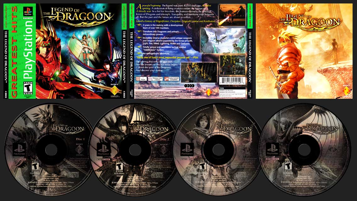 PSX PlayStation The Legend of Dragoon Greatest Hits
