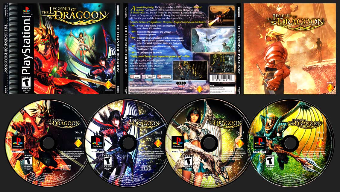 PSX PlayStation Legend of Dragoon Black Label Retail Release