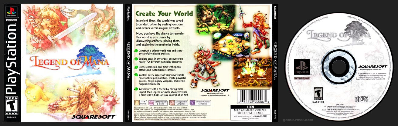PSX PlayStation Legend of Mana