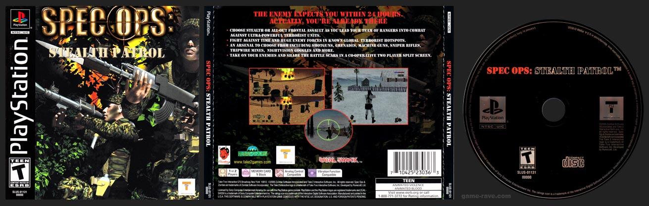 PSX PlayStation Spec Ops: Stealth Patrol