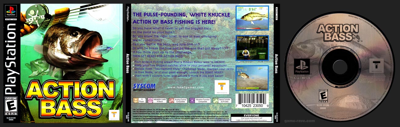 PSX PlayStation Action Bass