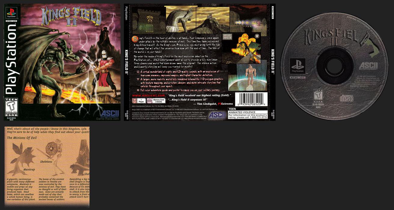 PSX PlayStation King's Field II