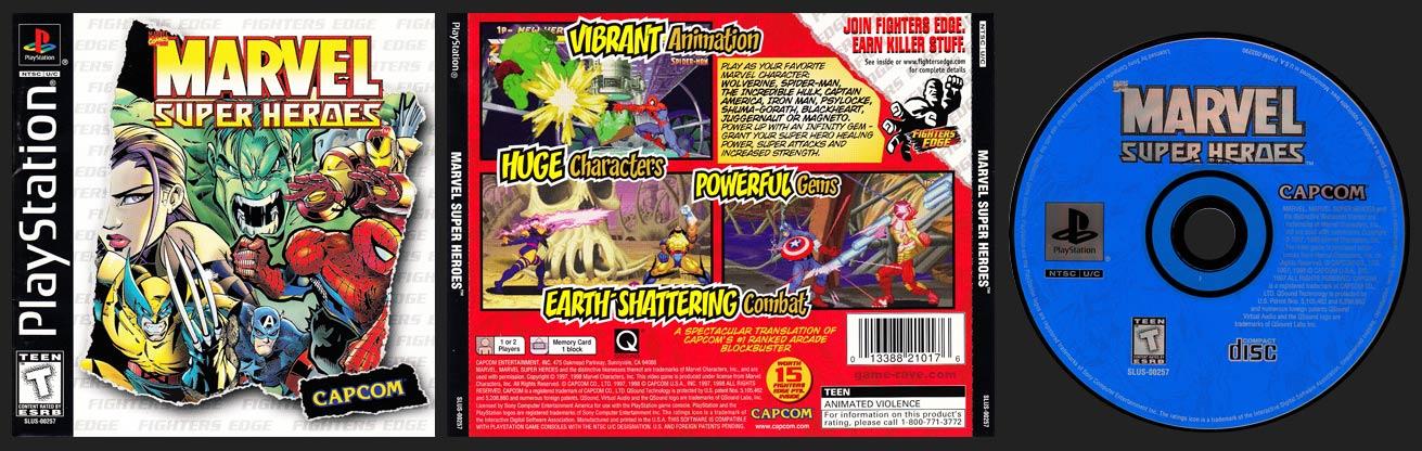 PSX PlayStation Marvel Super Heroes Fighters Edge Variant