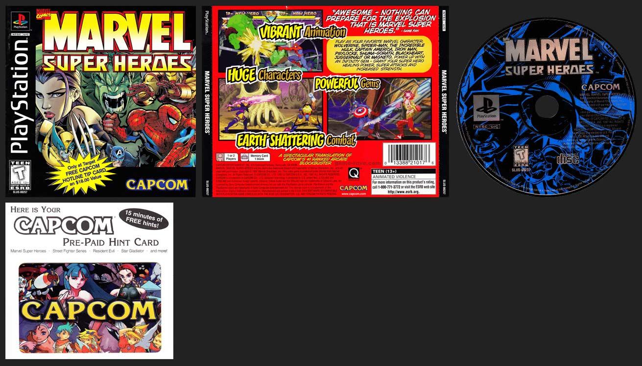 PSX PlayStation Marvel Super Heroes Phone Card Variant