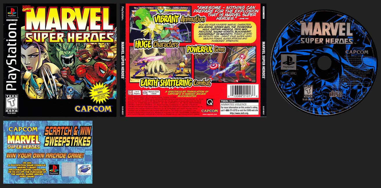 PSX PlayStation Marvel Super Heroes Sweepstakes Variant