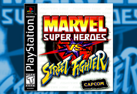 PSX PlayStation Marvel Super Heroes Vs Street Fighter