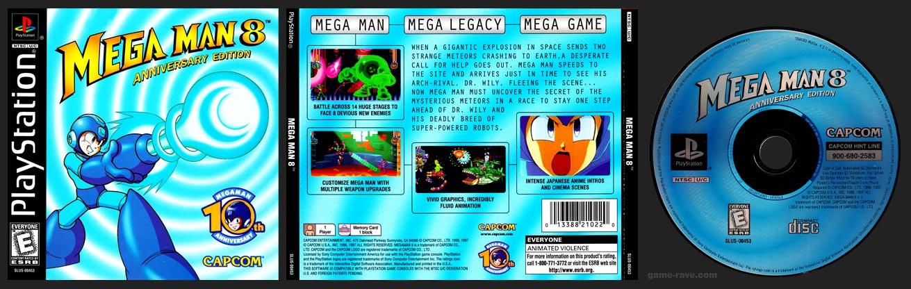 PSX PlayStation Mega Man 8 Regular Release Black Ring