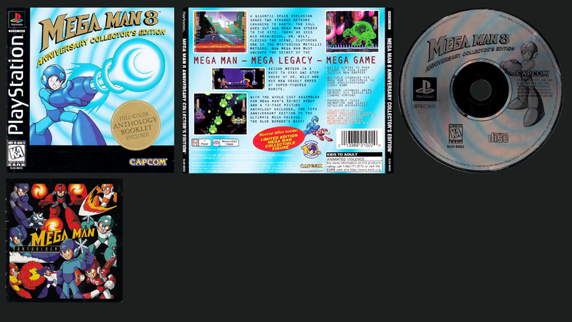 PSX PlayStation Mega Man 8 Anniversary Edition Black Label Retail Release
