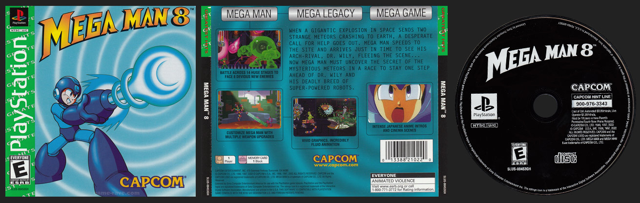 PSX PlayStation Mega Man 8 Greatest Hits Retail Release