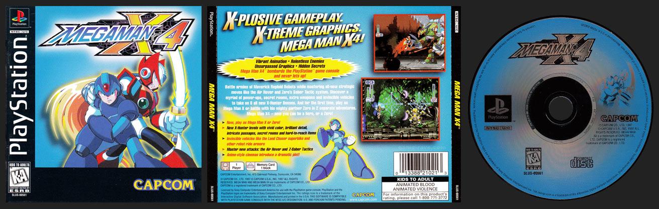 PSX PlayStation Mega Man X4 Black Label Retail Release