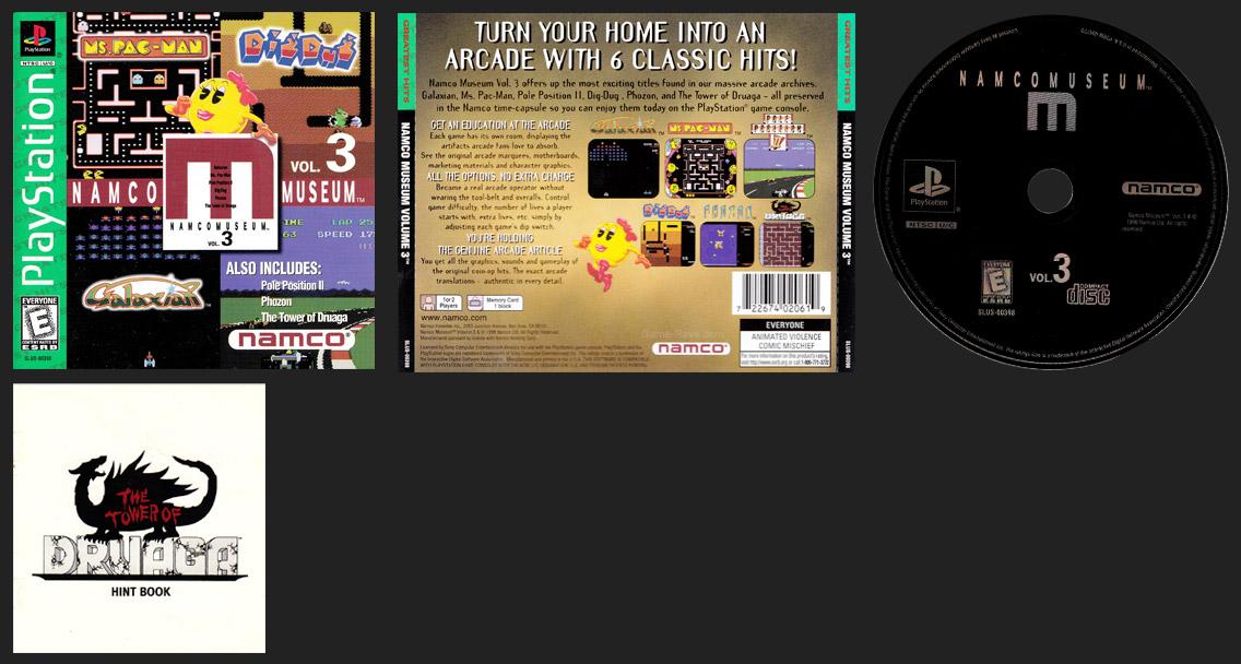 PSX PLayStation Namco Museum Volume 3 - M