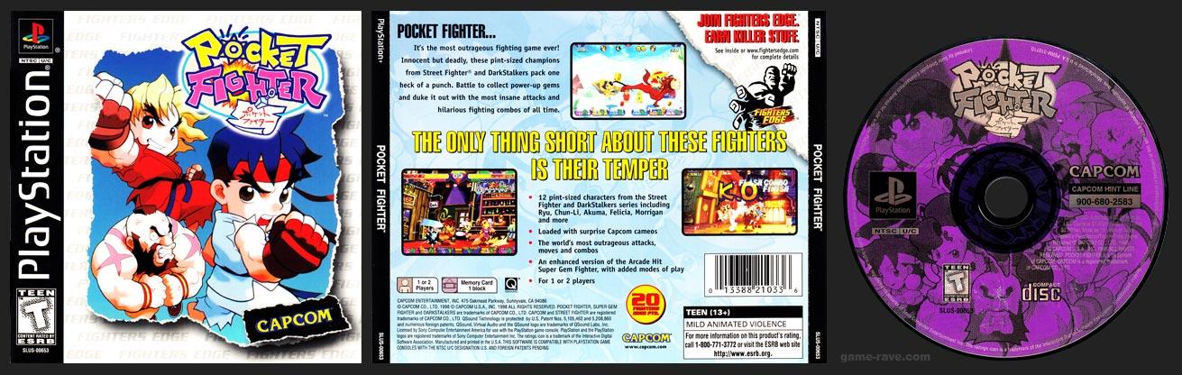 PSX PlayStation Pocket Fighter