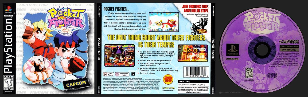 PSX PlayStation Pocket Fighter No Ring Hub Variant