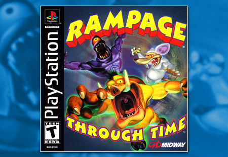 PSX PlayStation Rampage Through Time
