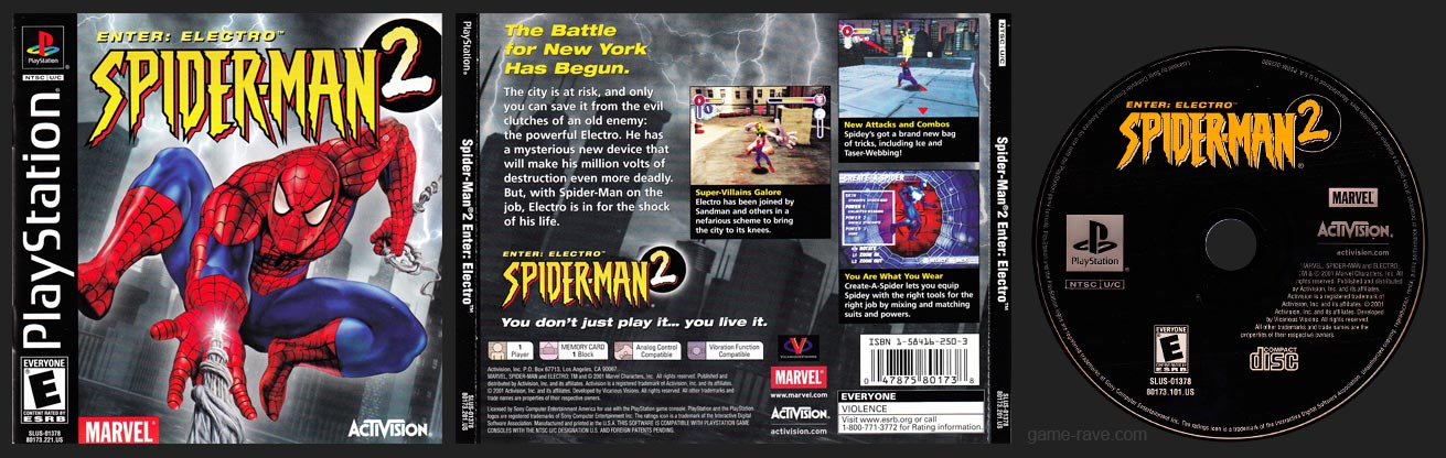 PSX PlayStation Spider-Man 2: Enter Electro