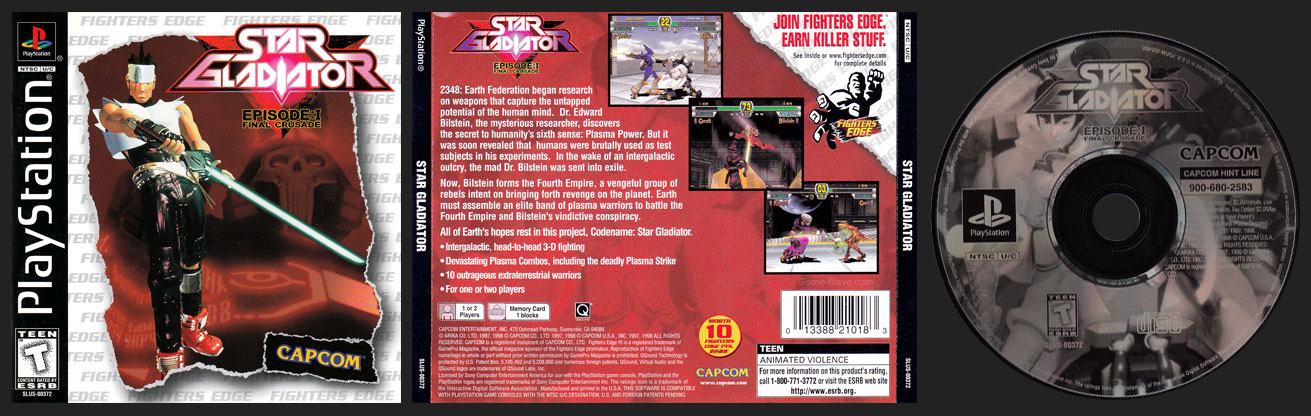 PSX PlayStation Star Gladiator Fighters Edge
