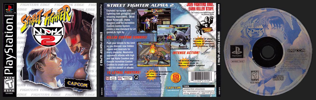 PSX PlayStation Street Fighter Alpha 2