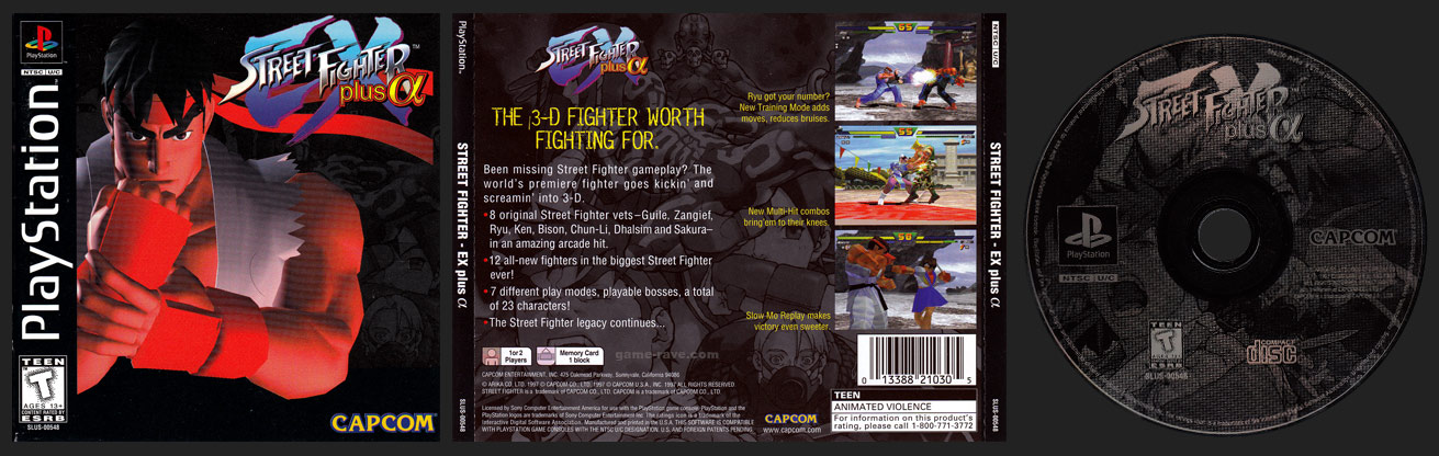 PSX PlayStation Street Fighter EX plus Alpha