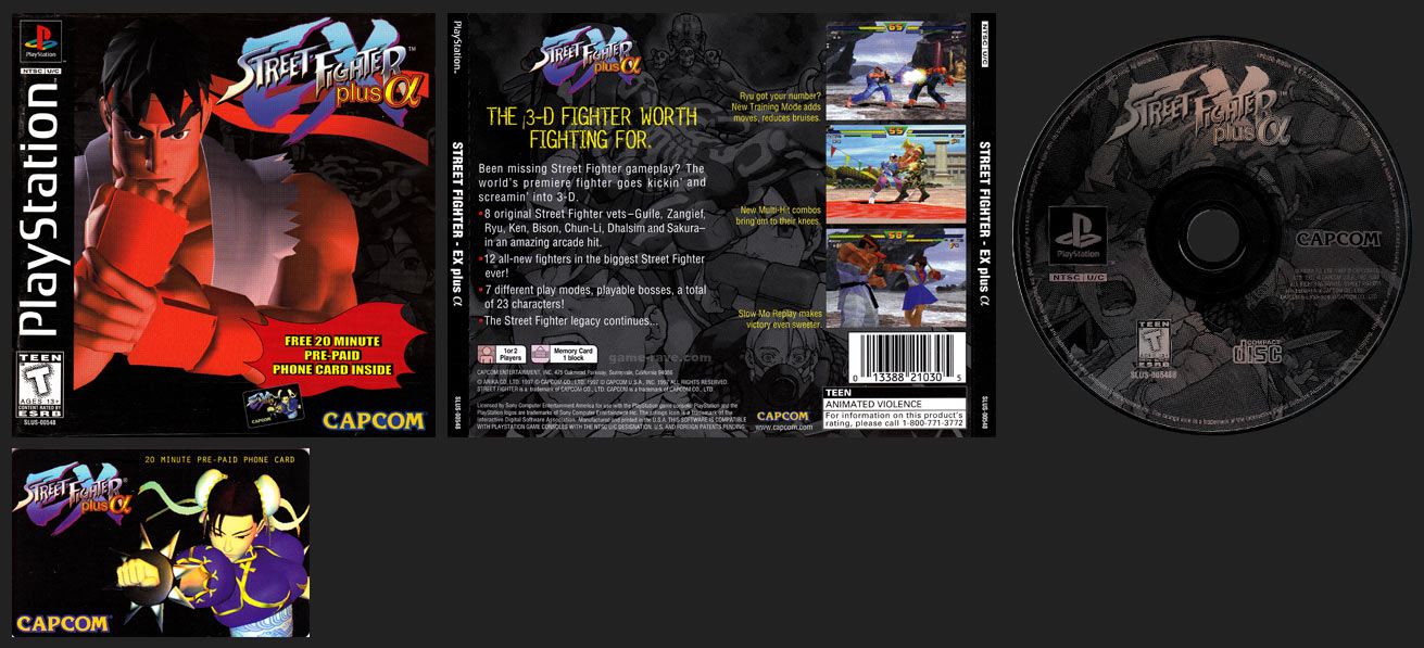 PSX PlaySTation Street Fighter EX Plus Alpha