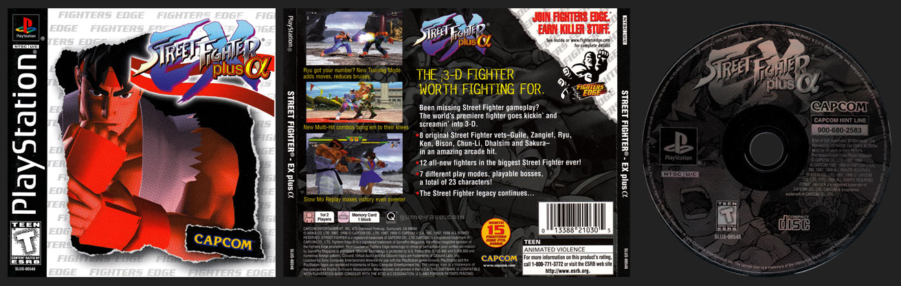 PSX PlayStation Edition Street Fighter EX Plus Alpha